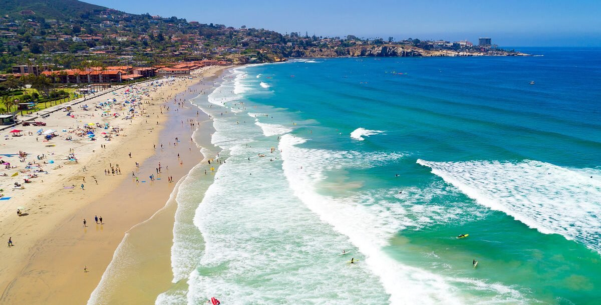 aerial view of the best beaches in La Jolla