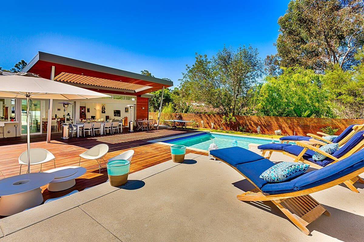 California Backyard With Pool