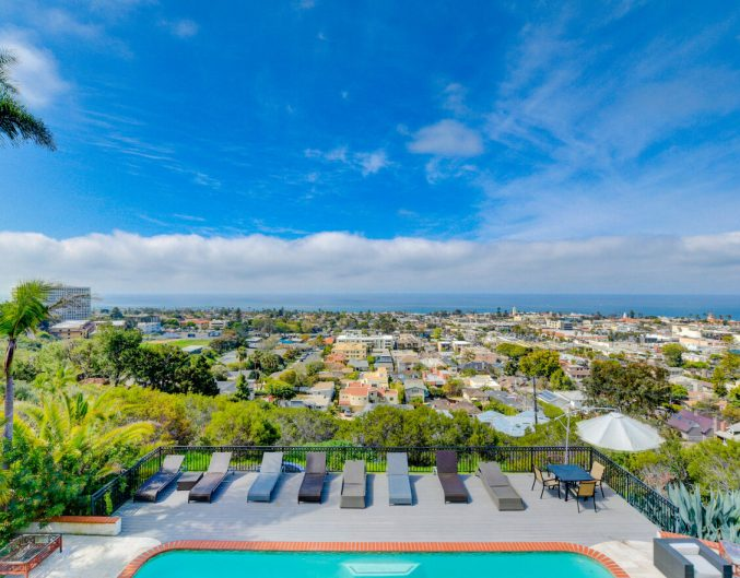 Balcony view from a La Jolla winter rental by Monarch Luxury Villas