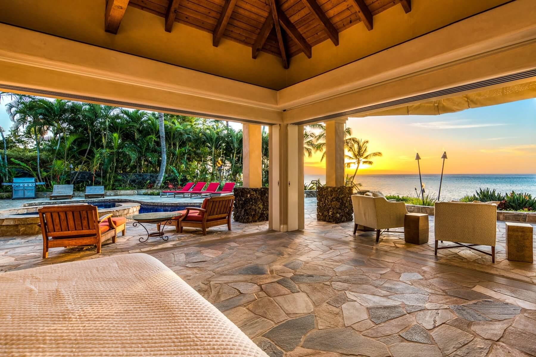 maui oceanside villas views from bedroom